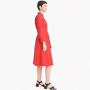 J. Crew Dresses - J.Crew Tie-waist shirtdress in cotton poplin